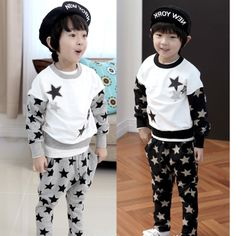 Children's clothing male child 2014 spring and autumn  O-NECK  FULL  STARS children sports sweatshirt + pants boys clothing set  $30.75 Sports Sweatshirts, Star Children, Kids Sports, Handsome Boys, Outfit Sets, Prince Clothing, Kids Outfits, Autumn, Pants