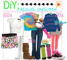 """""""DiY; Decade Costumes ♥"""" by theperfect-littletips ❤ liked on Polyvore"""