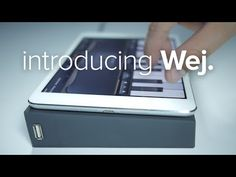 Untether your iPad. Connect your controllers to Wej, and it will transmit their MIDI messages wirelessly to your iPad.