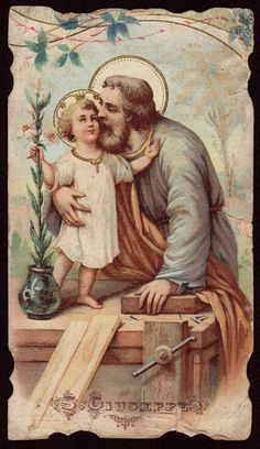 São José, Pai Nutrício do Menino Jesus (holy card)