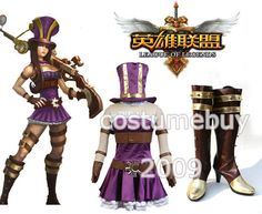 LOL League of Legends Sheriff of Piltover Caitlyn Cosplay Costume Boots Full Set 175.49