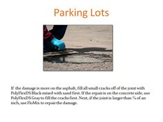 Repair parking lots with a variety of different products from Roklin.