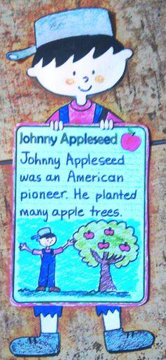 Johnny Appleseed craftivity. $1.50