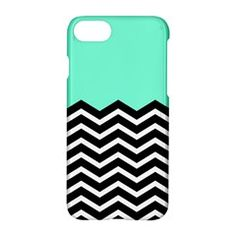 Blue Chevron Apple iPhone 7 Hardshell Case by Jojostore