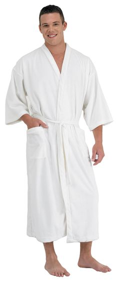 Cloud 9 Plush Men s Spa Robe in White ( 661-662)  100 afe857069