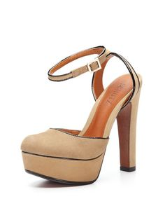 Again, can't walk in them, but Nude is a great color for this year.Elke Platform Pump by Schutz on Gilt.com