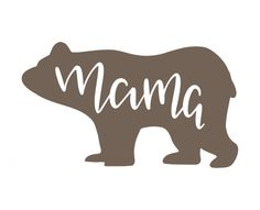Free SVG cut file - Mama Bear