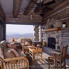 Log home pictures, Log home designs, Timber frame home design Log Cabin Living, Log Cabin Homes, Log Cabins, Timber Frame Homes, Timber House, Cabin Porches, Log Home Designs, Log Home Plans, Cabins And Cottages