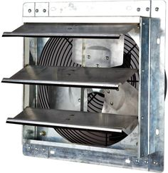 iLiving - Wall Mounted Exhaust Fan - Automatic Shutter - Variable Speed - Vent Fan For Home Attic, Shed, or Garage Ventilation, 600 CFM, 900 SQF Coverage Area