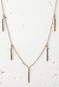 Chain Tassel Necklace   FOREVER 21 saved by #ShoppingIS