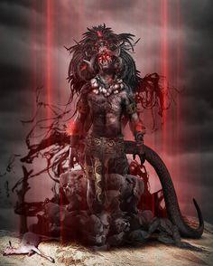 El Kakasbal es criatura de la noche y aborrece la luz del sol; en sus andanzas envenena las plantas, arruina las cosechas y provoca las pestes y las hambrunas. Es enemigo natural del hombre, cuya carne hace añicos con sus poderosos colmillos.