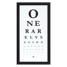 Apartminty Fresh Picks: If These Walls Could Talk | Eye Chart Print