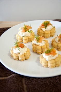 Salmon Cream Cheese Vol Au Vents by psilovetocook.com. Pretty tasty puff pastry filled with yummy cream cheese topped with smoked salmon. Great for party food, high tea and snacks.