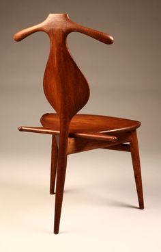 HANS J. WEGNER, The Valet-chair, 1953. Manufactured by Johannes Hansen, Denmark. Material solid teak. / John Moran