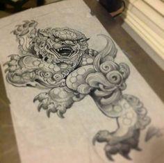 adf8c3dfd 34 Best Foo dog tattoo ideas images | Dog tattoos, Drawings, Foo dog ...