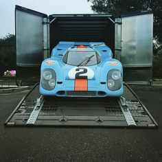 The 917K is making its early morning debut at a special private Cars and Coffee event.