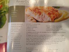 Potato-crusted fish recipe  Publix Aprons Spring 2011