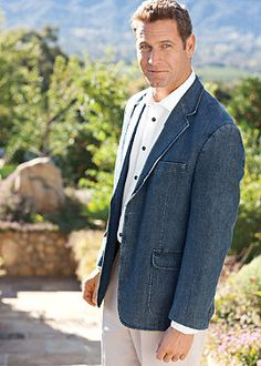 Love the ease of a chambray sportcoat! Normthompson.com #Blazer ...