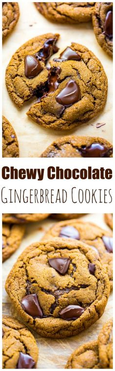 Extra thick and chewy Chocolate Gingerbread Cookies are perfect for holiday celebrations!!!