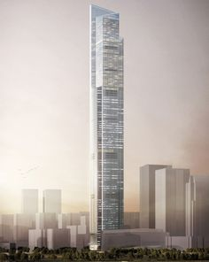 Guangzhou CTF Finance Center by Kohn Pedersen Fox Associates is one of the top 9 tallest skyscrapers completing in 2016