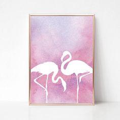 Printable Flamingo Decor Art Pink Flamingo Print Art