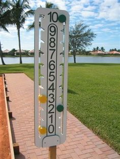 """The Ultimate Bocce Scoreboard by love. $164.95. The board is UV resistant, weatherproof and made from multi-colored polymer. The score is indicated on both sides and it's easy to read, even from a distance.The scoreboard can be placed near the center of the court or on the end. Since it is self-contained it will not require any replacement parts. It comes with a 48"""" wooden mounting post. It can be used as fixed or removable mounting. The Ultimate game scoring system for all y..."""