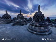 "Borobudur Temple, otherwise known as ""Graveyard of the Stone Bells."" ##PhotoSphere ##Indonesia goo.gl/Xp8wCk - Google Maps - Google+"