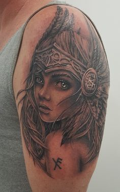 Valkyrie tattoo  Womens Face