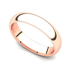 Introducing 18k Rose Gold 4mm Classic Plain Comfort Fit Wedding Band Ring 4. Get Your Ladies Products Here and follow us for more updates!