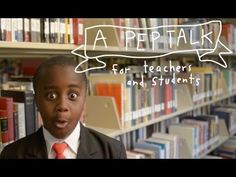 "▶ Kid President's Pep Talk to Teachers and Students. We all need to watch this once a day! Love soul pancakes. Thank you for reminding us of the reasons behind the teaching. Wouldn't it be fun to make a video like this as a class? ""Why"" are we learning?"