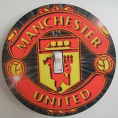 MAN UTD / Manchester United Black Light switch Cover 5 Inch Round (12.5 cms) Switch plate Switchplate by Character Creations. $12.00. Hardboard with Beautiful Glossy Finish. NOT a Sticker.  Image is heat sealed into the switchplate, therefore is completely washable.. Large 5 inches (12.5 cms) Lightswitch Cover. Man Utd Design. Beautifully finishes off any room. This is a fantastic addition to any bedroom, recroom or office and is made from hardboard, with a glossy front.  This it...