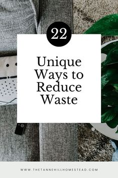 Wanting to reduce the amount of waste in your own home? Here is a short list of 22 ways to reduce waste. Start small and make improvements as you can! No Waste, Reduce Waste, What Can Be Recycled, Waste Reduction, Recycling Programs, Free Tips, Simple Living, Clean Living, Sustainable Living