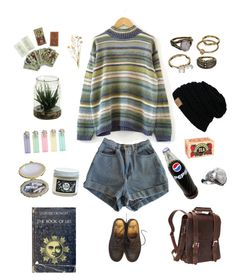 """Saphris"" by lkkeifer ❤ liked on Polyvore featuring American Apparel, Mudd, Vagabond Traveler and Dr. Martens"