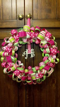Ribbon Wreath by Emilycoble on Etsy, $40.00