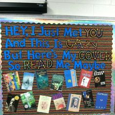 Bulletin board for books!