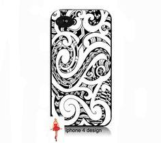iphone 4 case, cell phone case, i phone case, i phone 4s case black and white design. via Etsy.