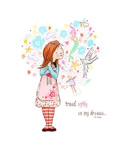 Children's Wall Art Print  Tread Softly  8x10  by sarahjanestudios, $26.00