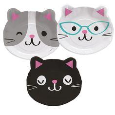 Tvarované talíře na vaši párty s kočkami.....