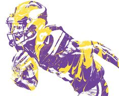 Stefon Diggs MINNESOTA VIKINGS PIXEL ART 40 Art Print by Joe Hamilton. All prints are professionally printed, packaged, and shipped within 3 - 4 business days. Vikings Football, Best Football Team, Football Players, Equipo Minnesota Vikings, Stefon Diggs, Viking 1, Joe Hamilton, All Art, Pixel Art