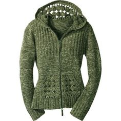 Cabela's Women's Crocheted Cardigan. Super expensive and sold out. I bet I could figure out the pattern.