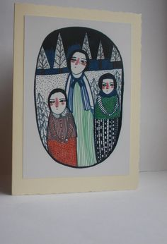 Winter Trees  Limited edtion Christmas card by maidolls on Etsy, £2.00