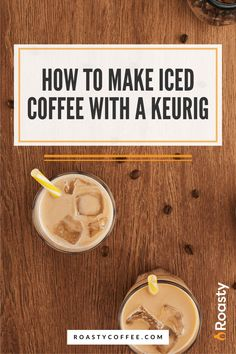 If you're trying to avoid paying money for an iced coffee when you already have a Keurig at home, you've come to the right place! It's 100% possible and surprisingly easy to do! Use our how-to guide to find out tips and tricks we've put together so you can get the most out of your home-brewed iced coffee. #coffeelovers #icedcoffee #roastycoffee #keurigcoffee Thai Iced Coffee, Vietnamese Iced Coffee, Making Cold Brew Coffee, How To Make Ice Coffee, What Is A Frappe, Coffee Course, Coffee Brownies, Coffee Cream, Coffee Is Life
