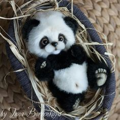 Are pandas even real ? Baby Animals Pictures, Cute Animal Pictures, Cute Little Animals, Cute Funny Animals, Cute Puppies, Cute Dogs, Baby Panda Bears, Baby Pandas, Cute Panda