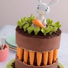 Easter Bunny Cake, Easter Treats, Bunny Cakes, Cake Decorating Techniques, Cake Decorating Tutorials, Oreo Cheesecake Bars, Chocolate Easter Cake, Smooth Cake, Spring Cake