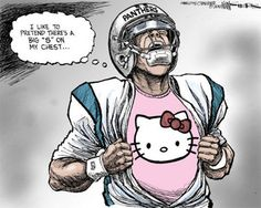 The Charolette Observer pokes fun at Carolina Panthers QB Cam Newton. (Kevin Siers/The Charlotte Observer)