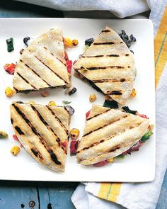Black Beans, Vegetarian Quesadilla, Quesadillas Recipe, Martha Stewart ...