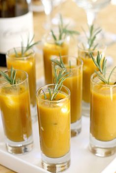 Butternut squash shooters. Perfect for fall entertaining and absolutely delicious!