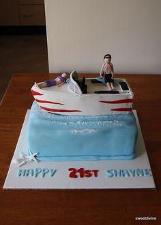 Boat Cake Cakepinscom Th Birthday Pinterest Boat Cake - Fishing boat birthday cake