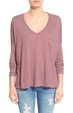 BP. BP. Stripe Long Sleeve Pocket Tee available at #Nordstrom