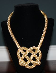 Gold Celtic  knot rope necklace by MyHeartShoppe on Etsy, $35.00
